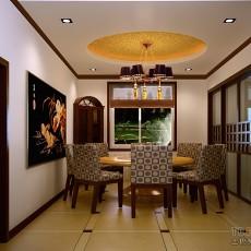 美式餐厅实木餐桌效果图