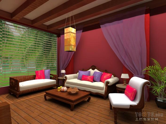 现代时尚装潢客厅