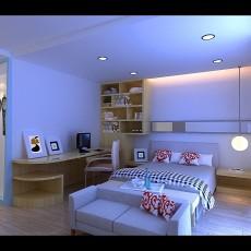 欧式卧室兼书房装修设计图