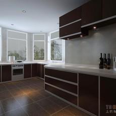 精美123平米混搭复式厨房装修效果图片欣赏