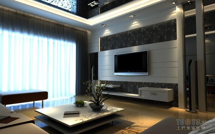 宜家风格三居室客厅设计图片