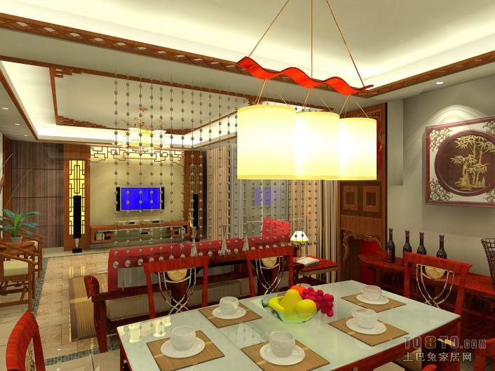 2015现代二室餐厅家装效果图