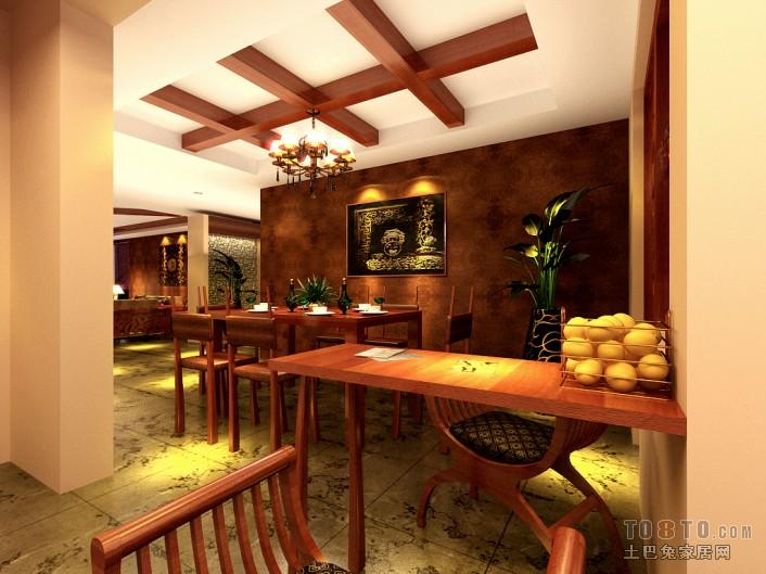 美式风格设计别墅餐厅装饰图片