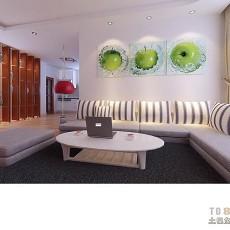 精美面积77平混搭二居客厅装修欣赏图片大全