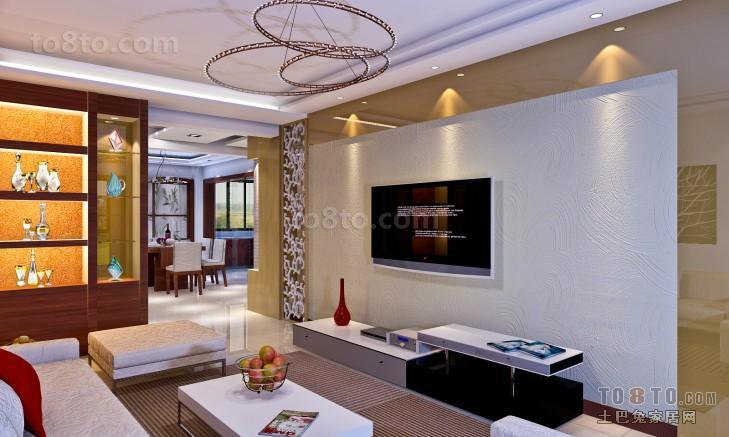 客厅电视背景墙装修效果图片