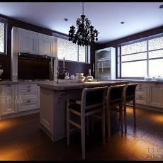 家装欧式厨房吧台隔断效果图