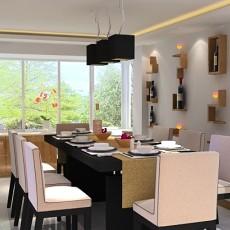 现代欧式别墅餐厅装修效果图