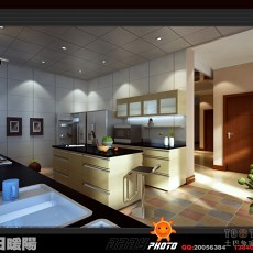 餐厅厨房装饰效果图