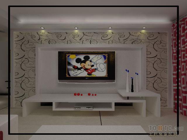 精致豪华现代风格电视背景墙装修效果图