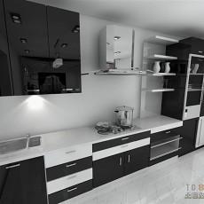 2018面积72平现代二居厨房装修图片