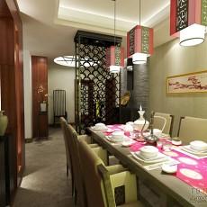 精选大小108平中式三居餐厅装修实景图片欣赏