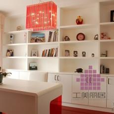 宜家白色简约书房书房装饰图片