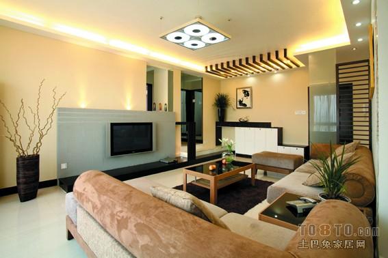 现代时尚家居卧室背景墙效果图