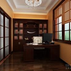 现代小书房背景墙效果图