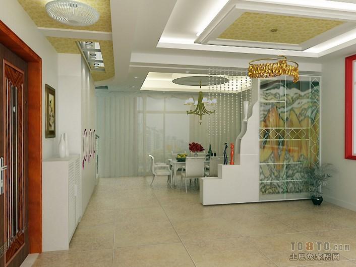 法式风格设计客餐厅效果图