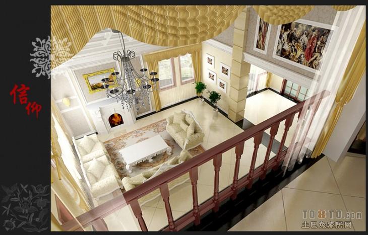 复式楼二楼客厅装修效果图