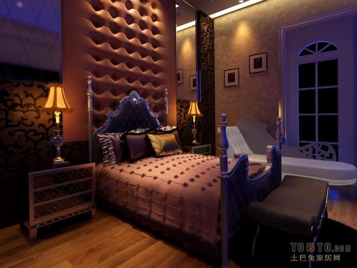 新中式卧室设计效果图欣赏