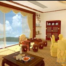 东南亚风格家装餐厅设计图片