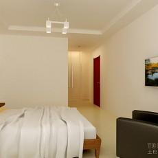 精选90平米三居卧室混搭装饰图