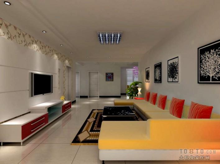 现代时尚家居风电视背景墙设计图册