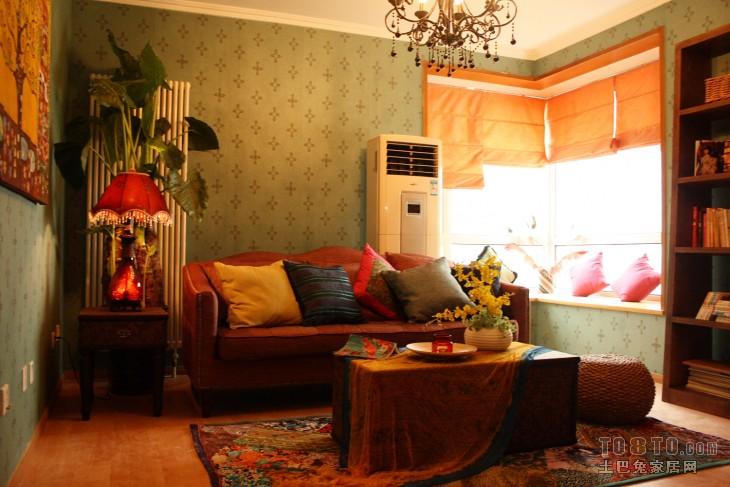 精选90平米混搭小户型客厅装修效果图片欣赏