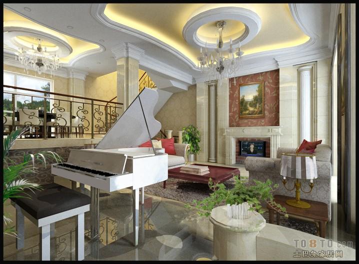 别墅复式客厅装修效果图