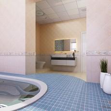 室内装饰效果图 整体卫生间装饰效果图