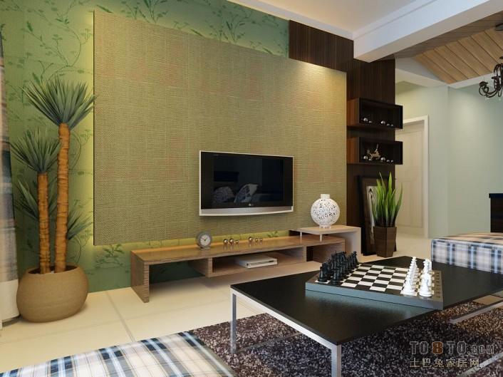 现代风格复式装修电视背景墙设计