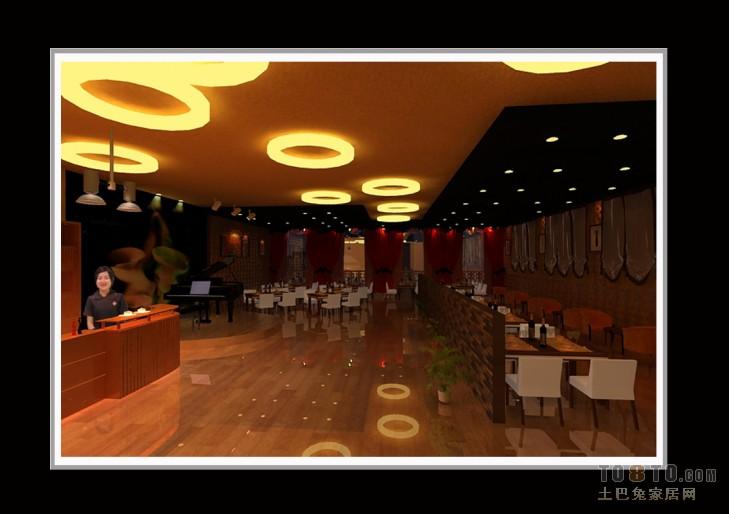 现代简约室内餐厅装修设计效果图