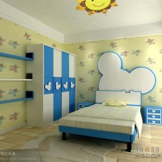 双人儿童房装修设计效果图欣赏