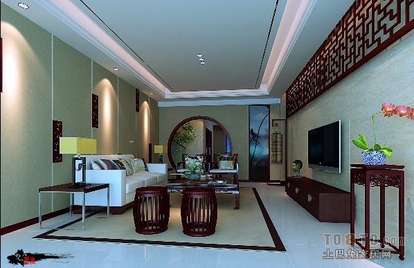 精美简约一居客厅装修效果图片