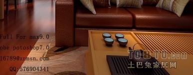 中式现代风格设计休闲区装修效果图