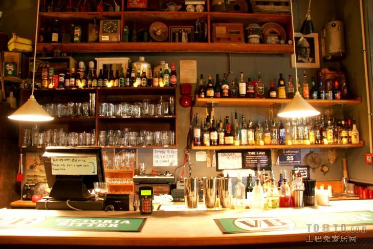 酒吧柜台_酒吧酒柜台装修设计-土巴兔装修效果图