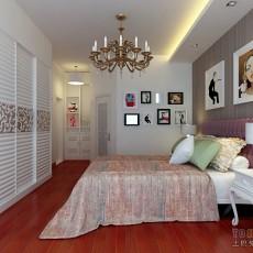 精选面积91平混搭三居卧室欣赏图片