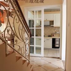 家居厨房彩色瓷砖装修效果图片