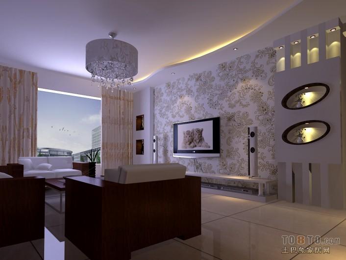 摩登现代客厅装潢美图
