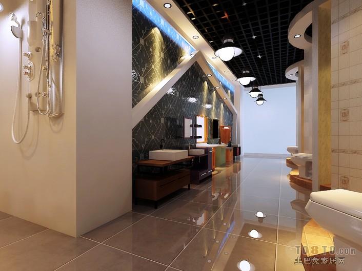 现代马赛克贴砖卫生间装饰