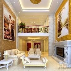 精选128平米混搭复式客厅装修设计效果图片大全