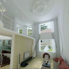 精选128平米混搭复式客厅设计效果图
