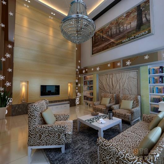 现代6平米客厅装修电视背景墙