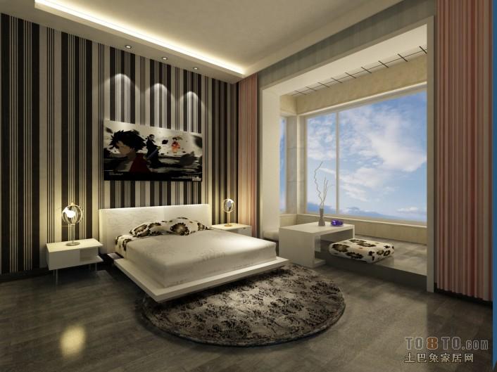 中式时尚卧室家具效果图