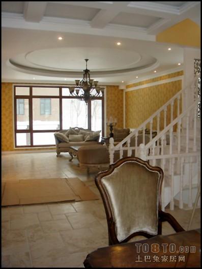 家装中式家居过道样板间