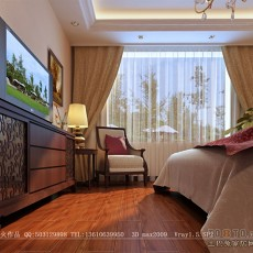 现代简约卧室软包背景墙装修效果图大全