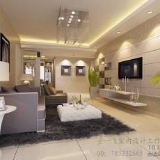大气漂亮的客厅背景墙效果图