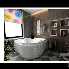 卫生间实木浴室柜图片