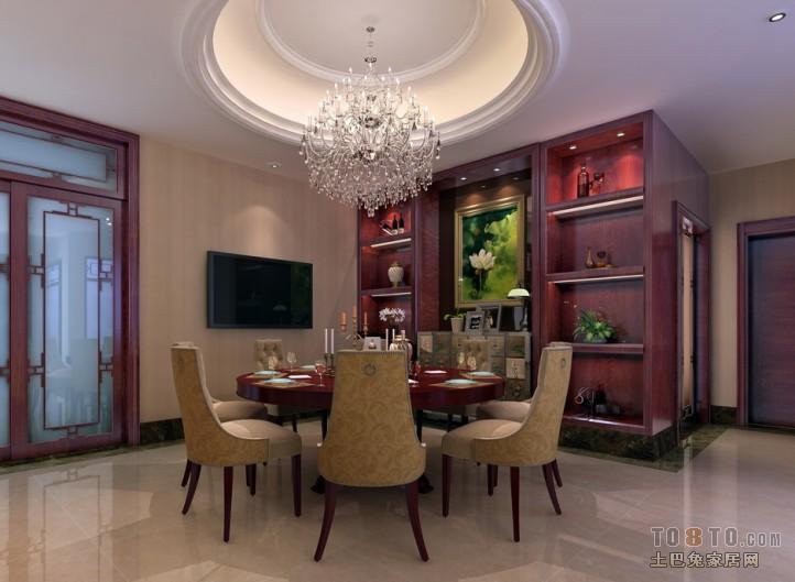 现代中式设计餐厅图片