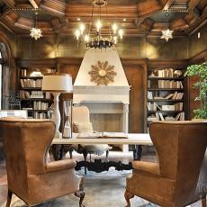 书房装修样板房效果图