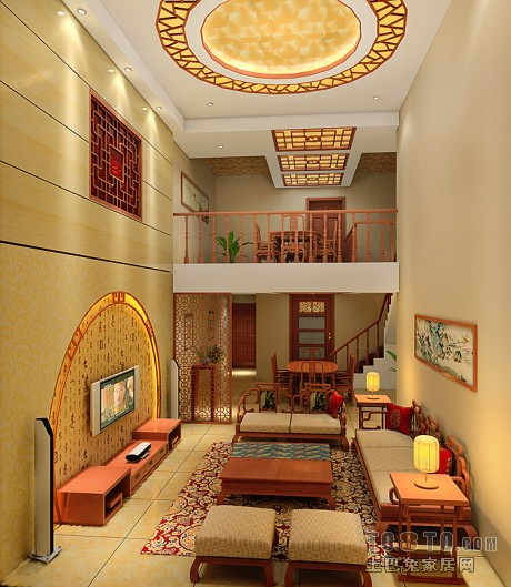 精美面积81平公寓简约装修设计效果图片