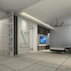 精美83平米混搭小户型客厅实景图