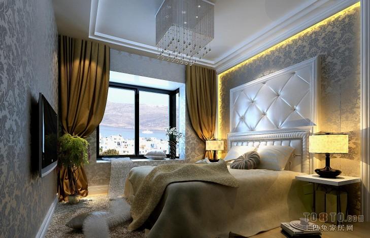精美美式一居卧室装修设计效果图片大全